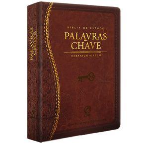 Biblia-de-Estudo-Palavras-Chave-Luxo-Marrom--Classica-
