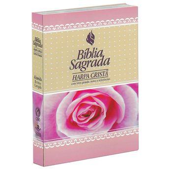 Biblia-Sagrada-Harpa-Crista-Feminina-Rosas