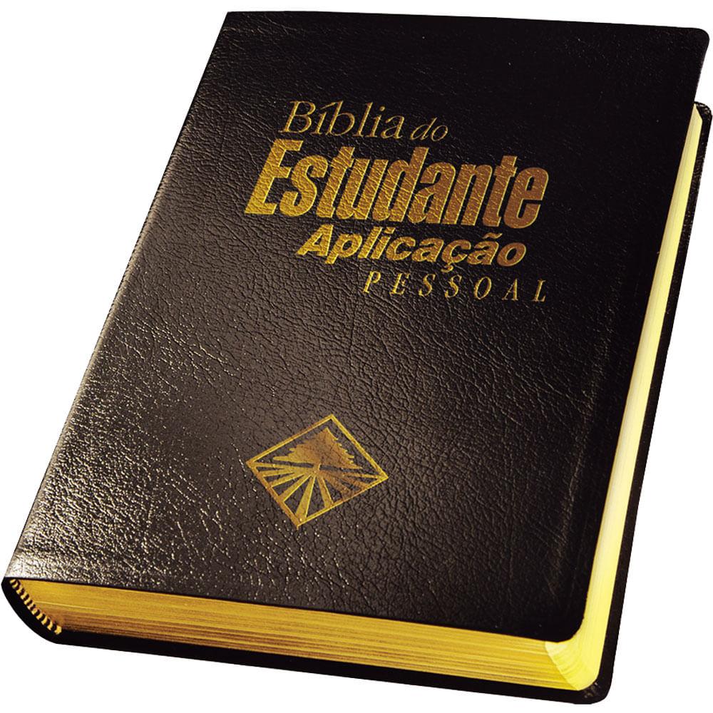 Bíblia do Estudante Aplicação Pessoal Capa Flexível Couro Simulado Preto