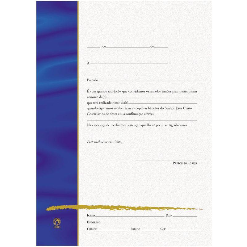Carta Convite Para Eventos Igrejas Cpad Cpad